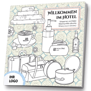 Malbuch Hotel Werbemittel
