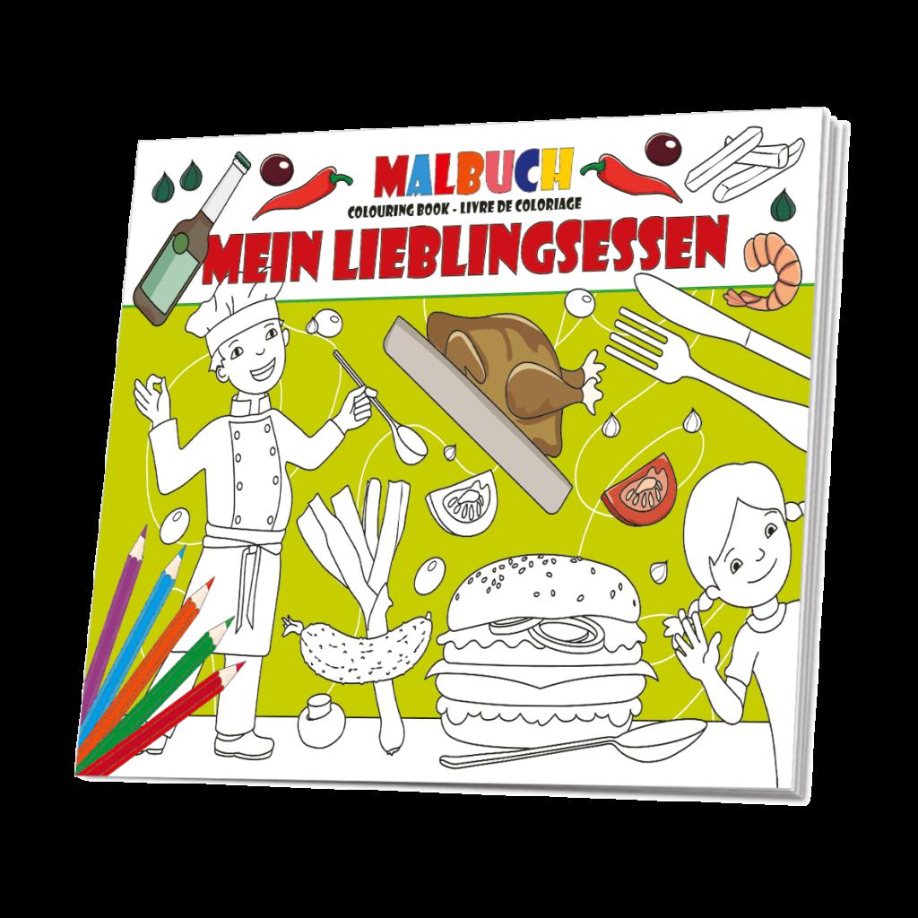 """Malbuch """"Mein Lieblingsessen"""" - Malbuch Restaurant"""