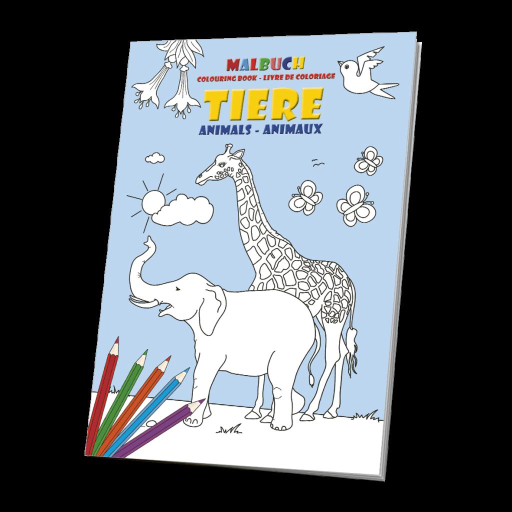Malbuch Tiere - das Tiermalbuch