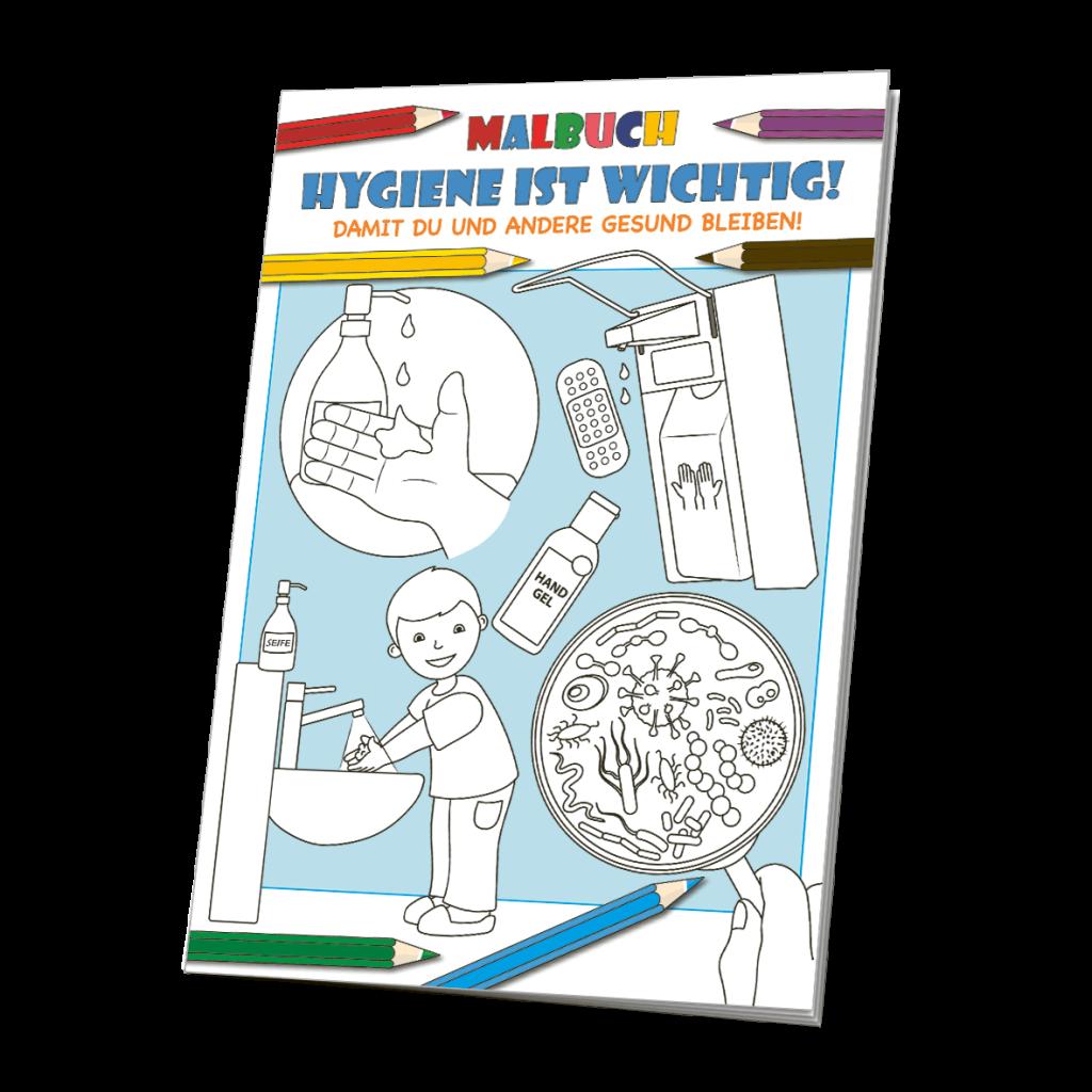 Malbuch Hygiene - Ausmalvorlagen zum Thema Hygiene